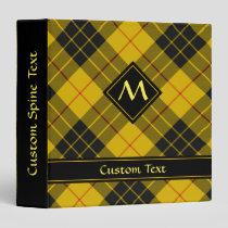 Clan Macleod of Lewis Tartan 3 Ring Binder