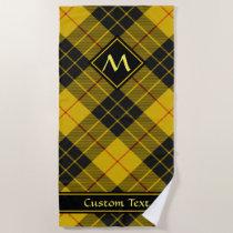 Clan Macleod of Lewis Tartan Beach Towel