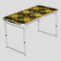 Clan Macleod of Lewis Tartan Beer Pong Table