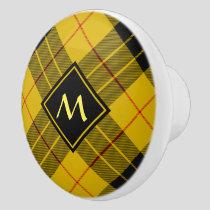 Clan Macleod of Lewis Tartan Ceramic Knob