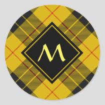 Clan Macleod of Lewis Tartan Classic Round Sticker