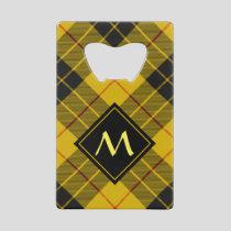 Clan Macleod of Lewis Tartan Credit Card Bottle Opener