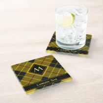 Clan Macleod of Lewis Tartan Glass Coaster
