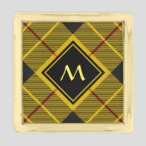 Clan Macleod of Lewis Tartan Gold Finish Lapel Pin