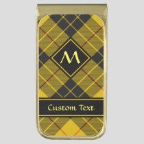 Clan Macleod of Lewis Tartan Gold Finish Money Clip