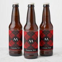 Clan Macleod of Raasay Tartan Beer Bottle Label