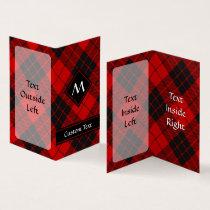 Clan Macleod of Raasay Tartan Business Card