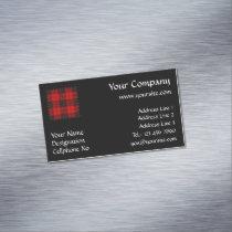 Clan Macleod of Raasay Tartan Business Card Magnet