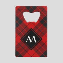 Clan Macleod of Raasay Tartan Credit Card Bottle Opener