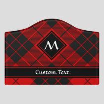 Clan Macleod of Raasay Tartan Door Sign