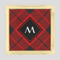 Clan Macleod of Raasay Tartan Gold Finish Lapel Pin