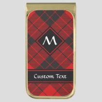 Clan Macleod of Raasay Tartan Gold Finish Money Clip