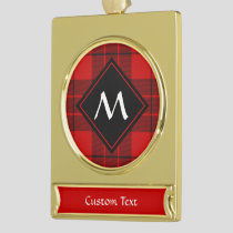 Clan Macleod of Raasay Tartan Gold Plated Banner Ornament