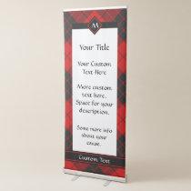 Clan Macleod of Raasay Tartan Retractable Banner