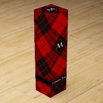 Clan Macleod of Raasay Tartan Wine Box