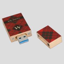 Clan Macleod of Raasay Tartan Wood Flash Drive