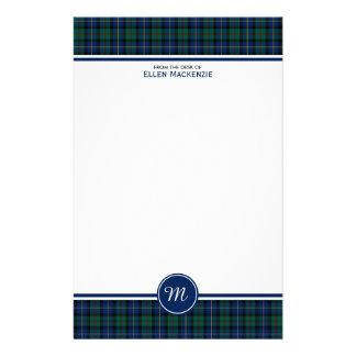 Clan MacLeod of Skye Tartan Monogram Stationery