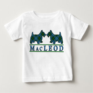 Clan MacLeod Scottie Dogs Scottish Clan Tartan Baby T-Shirt