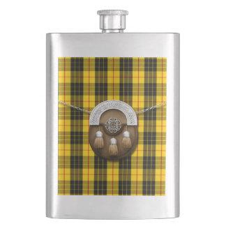 Clan MacLeod Tartan And Sporran Hip Flask