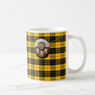 Clan MacLeod Tartan And Sporran Classic White Coffee Mug