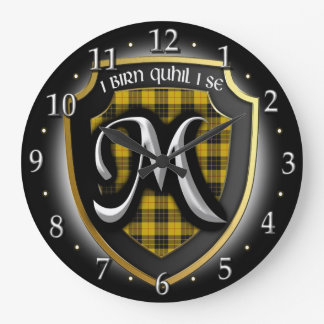 Clan MacLeod Tartan Clock