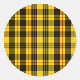 Clan MacLeod Tartan Round Sticker