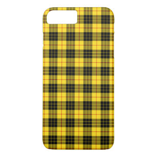 designer fashion 09749 625e8 Clan MacLeod Tartan Yellow and Black Plaid iPhone 8 Plus/7 Plus Case