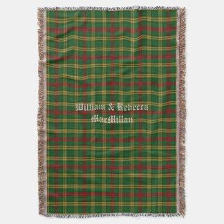 Clan MacMillan Tartan Plaid Custom Throw Blanket