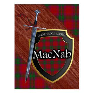 Clan MacNab Tartan Sword & Shield Postcard
