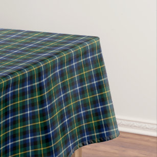 Clan MacNeil Dark Blue And Green Scottish Tartan Tablecloth