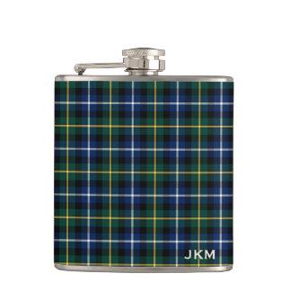 Clan MacNeil of Barra Tartan Monogram Flask