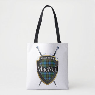 Clan MacNeil Swords and Shield Tartan Plaid Tote Bag