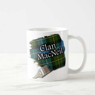 Clan MacNeil Tartan Paint Brush Cup Mug