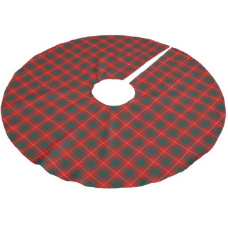 Clan MacPhee Tartan Red and Forest Green Plaid Brushed Polyester Tree Skirt