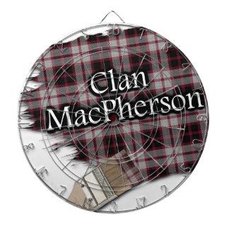 Clan MacPherson Paint Brush Scottish Tartan Dart Board