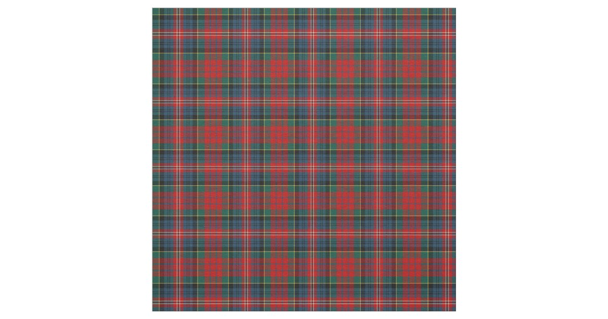 Clan Macpherson Tartan Fabric Zazzle Com