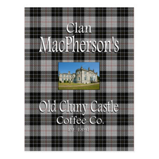 Clan MacPherson's Old Cluny Castle Coffee Co. Postcard