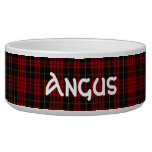 Clan MacQueen Custom Tartan Plaid Pet Bowl