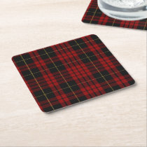 Clan MacQueen Plaid Paper Coasters