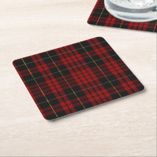 Clan MacQueen Plaid Paper Coasters Square Paper Coaster
