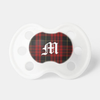Clan MacQueen Tartan Plaid Monogram Baby Pacifier