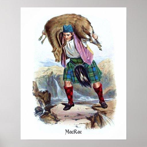 Clan MacRae de R.R. McIan Posters