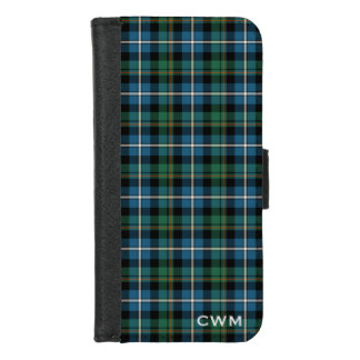 Clan MacRae Hunting Tartan Scottish Plaid Monogram iPhone 8/7 Wallet Case