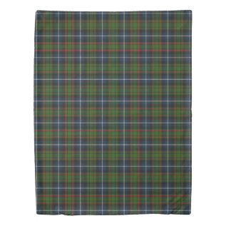 Clan Macrae Scottish Accents Hunting Tartan Duvet Cover at Zazzle