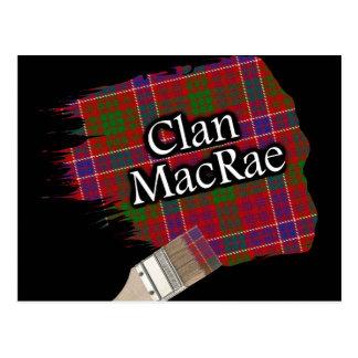 Clan MacRae Scottish Tartan Paint Brush Postcard