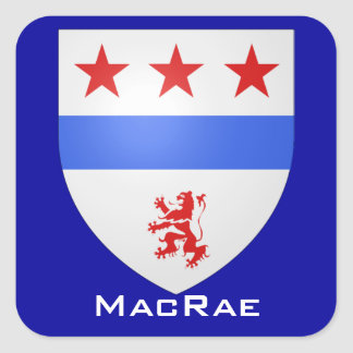 Clan MacRae Shield Square Sticker