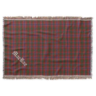 Clan MacRae Tartan Plaid Custom Throw Blanket