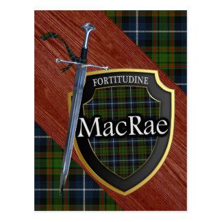 Clan MacRae Tartan Sword & Shield Postcard