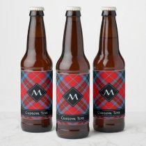 Clan MacTavish Tartan Beer Bottle Label