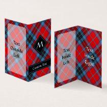 Clan MacTavish Tartan Business Card